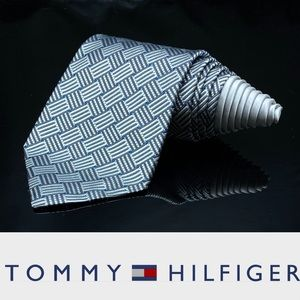 Tommy Hilfiger Men's Silver Weave Classic Tie